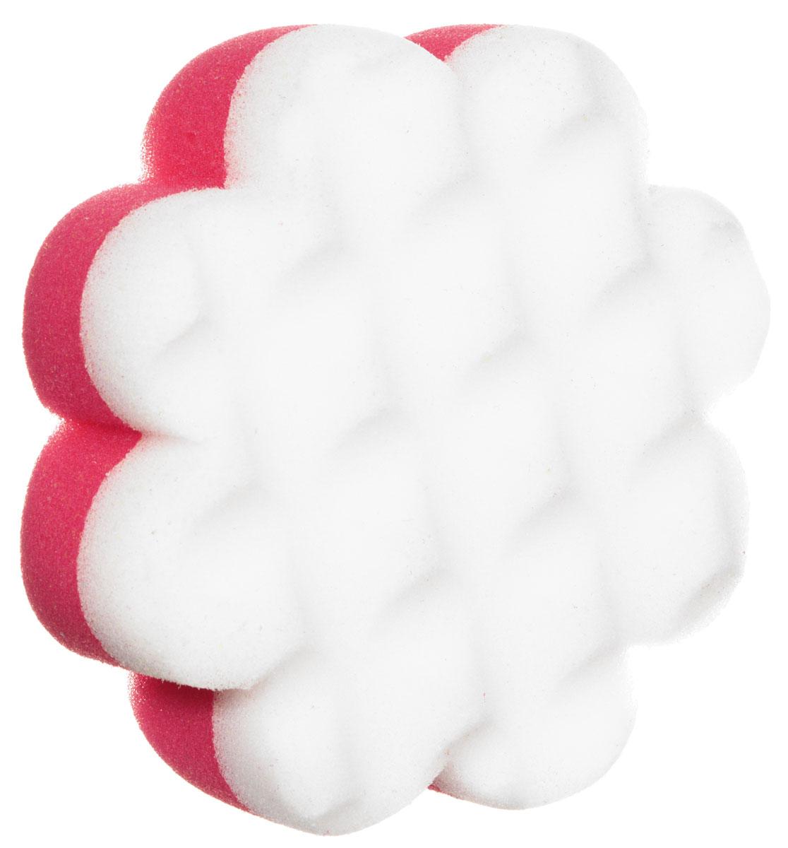 Курносики Мочалка с массажным слоем Цветок цвет розовый белый