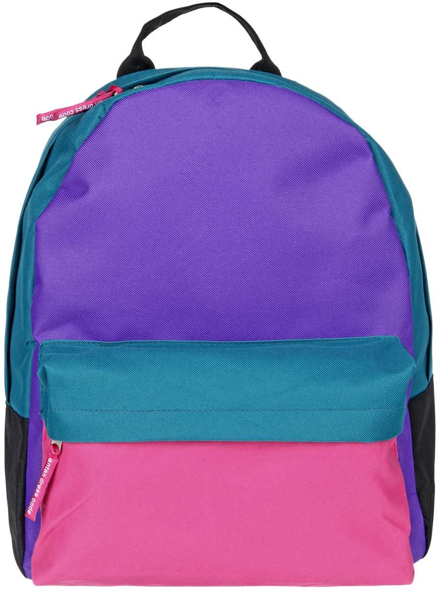 Рюкзак женский Antan, цвет: бирюзовый, фиолетовый, розовый. 6-76-7Стильный женский рюкзак Antan изготовлен из текстиля. Изделие имеет одно отделение, которое закрывается на застежку-молнию с двумя бегунками. Внутри расположен мягкий карман для планшета. Снаружи, на передней стенке расположен объемный накладной карман на застежке-молнии. Изделие оснащено двумя лямками регулируемой длины с мягкой подкладкой и удобной ручкой. Такой рюкзак эффектно дополнит ваш образ и станет незаменимым в повседневной жизни или в путешествии.