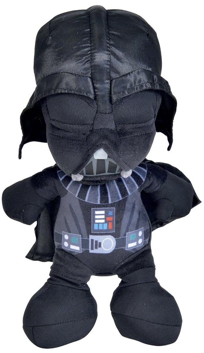 Star Wars Мягкая игрушка Дарт Вейдер 28 см1400615Мягкая игрушка Star Wars Дарт Вейдер обязательно порадует любого поклонника грандиозной космической саги Звездные войны. Игрушка изготовлена из текстиля высокого качества, подробно детализирована, не имеет пластмассовых деталей, что делает ее безопасной даже для самых юных фанатов. Игрушка имеет увеличенную голову по сравнению с остальным туловищем. Благодаря этому можно разглядеть, как детально проработан его шлем, лишь делающий знаменитого злодея еще более загадочным. Также на самой броне Дарта Вейдера имеется приборная панель, которая еще больше расширяет его супергеройский потенциал. Данный вариант Темного лорда станет незаменимым спутником для юных любителей известной вселенной. Порадуйте своего ребенка таким замечательным подарком.
