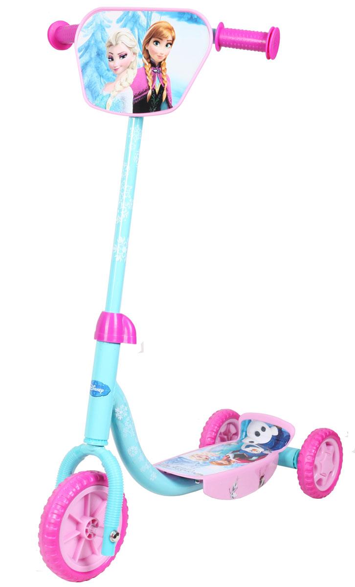 Disney Frozen Самокат детский трехколесныйТ58465Самокат Disney Холодное сердце, 3-х колесный. EVA колеса, декоративная панель