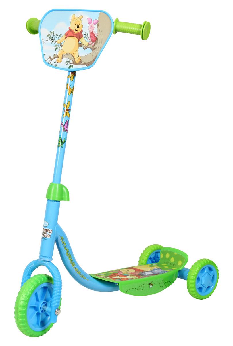 Disney Самокат детский трехколесный Винни-ПухТ58423Самокат Disney Винни-Пух, 3-х колесный. EVA колеса, декоративная панель