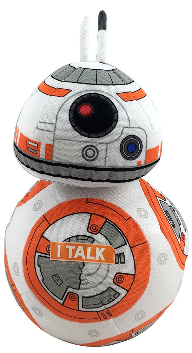 Star Wars Мягкая озвученная игрушка ВВ-8 20 смSW01919Мягкая озвученная игрушка Star Wars ВВ-8 порадует любого поклонника знаменитой саги Звездные войны. Игрушка выполнена из высококачественного текстильного материала в виде сферического дроида ВВ-8 и отличается удивительной детализацией, что делает этого миниатюрного персонажа удивительно похожим на своей реальный прототип. При нажатии на живот игрушки, она издаст характерные для персонажа звуки. Оригинальная мягкая игрушка непременно поднимет настроение своему обладателю и станет замечательным подарком любому ребенку или взрослому, увлеченному вселенной Звездных войн. Рекомендуется докупить 3 батарейки напряжением 1,5V типа LR44/AG13 (товар комплектуется демонстрационными).