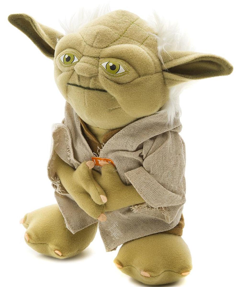 Star Wars Мягкая озвученная игрушка Йода 20 смSW02367Мягкая озвученная игрушка Star Wars Йода выполнена из высококачественного текстильного материала в виде персонажа киносаги Звездные войны - мудрейшего и сильнейшего джедая Йоды. При нажатии на животик игрушки она издаст характерные для персонажа фразы на английском языке. Оригинальная мягкая игрушка непременно поднимет настроение своему обладателю и станет замечательным подарком поклоннику Звездных войн. Рекомендуется докупить 3 батарейки напряжением 1,5V типа LR44/AG13 (товар комплектуется демонстрационными).
