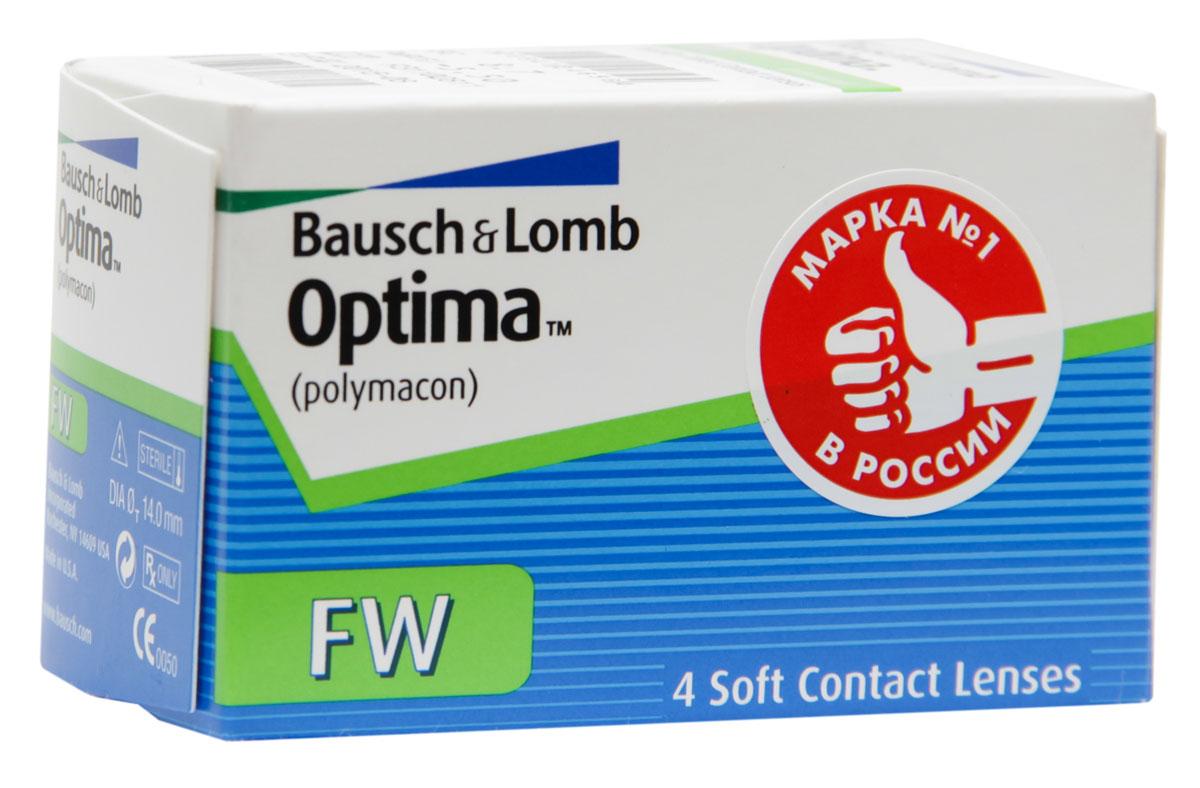 Bausch + Lomb контактные линзы Optima FW (4шт / 8.7 / -4.00)06699Контактные линзы Optima FW производства компании Bausch&Lomb выпускаются уже долгое время и на сегодня являются одними из самых популярных благодаря непревзойденному комфорту. Мягкие гидрогелевые линзы Optima FW изготавливаются из материала полимакон комбинированным способом. Особенность такого процесса заключается в том, что наружная поверхность линз формируется полимеризацией, а внутренняя производится точением. Благодаря этому линза имеет идеальную посадку и остается на глазу совершенно незамеченной. Толщина линзы Optima FW с оптической силой -3,00 составляет 0,035 мм в центре, что обеспечивает хорошее пропускание кислорода к роговице, как следствие - комфортность ношения линз. Плюсовые контактные линзы Optima FW значительно толще - 0,26 мм. Оптическая зона линз - 8 миллиметров. Контактные линзы Optima FW не меняют цвет глаз, но имеют тонировку, предназначенную для простоты операций снятия и надевания линз. Для облегчения манипуляций с линзами их снабжают...