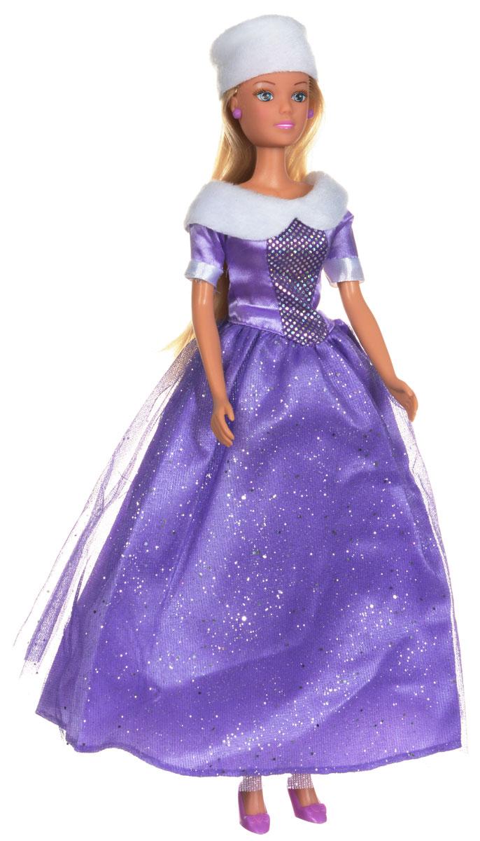 Simba Кукла Штеффи Зимняя принцесса5730664_сиреневыйКукла Simba Штеффи. Зимняя принцесса надолго займет внимание вашей малышки и подарит ей множество счастливых мгновений. Кукла изготовлена из пластика, ее голова, ручки и ножки подвижны, что позволяет придавать ей разнообразные позы. Кукла одета в роскошное пышное платье, украшенное меховой оторочкой по горловине и оформленное сверкающими блестками. Элегантный наряд дополняет белая меховая шапочка. Чудесные длинные волосы куклы так весело расчесывать и создавать из них всевозможные прически, плести косички, жгутики и хвостики. Благодаря играм с куклой, ваша малышка сможет развить фантазию и любознательность, овладеть навыками общения и научиться ответственности. Порадуйте свою принцессу таким прекрасным подарком!