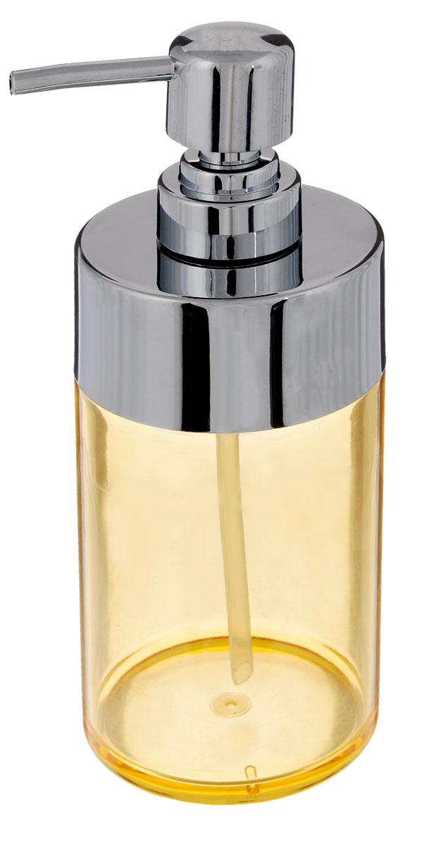 Диспенсер для жидкого мыла Fresh Code Элегант, цвет: желтый, 490 мл64546_желтыйДиспенсер для жидкого мыла Fresh Code Элегант изготовлен из акрила в классическом стиле. Прозрачные стенки изделия позволяют видеть содержимое. Носик выполнен из прочного ABS-пластика с хромированным покрытием. Диспенсер очень удобен в использовании: просто надавите сверху, и из диспенсера выльется необходимое количество мыла. Аксессуары для ванной комнаты Fresh Code стильно украсят интерьер и добавят в обычную обстановку яркие и модные акценты. Размер диспенсера: 7 х 7 х 20 см. Объем: 490 мл.