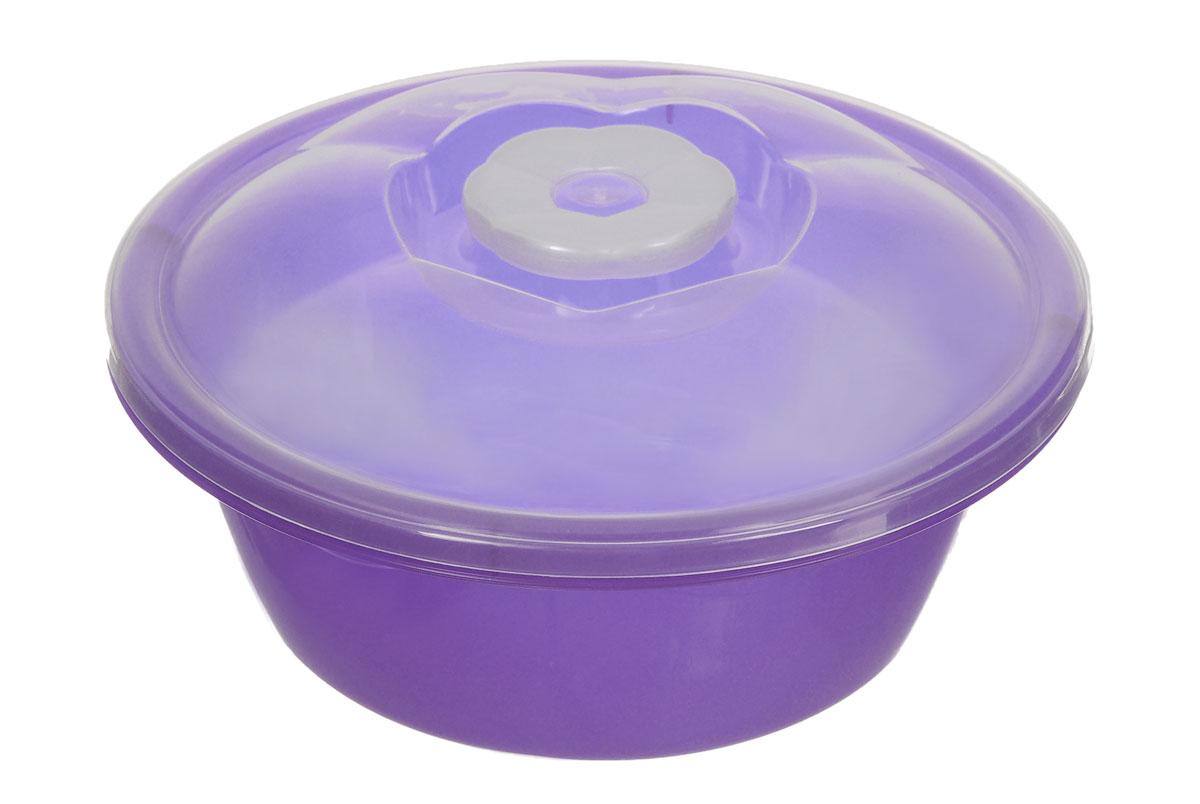 Миска Dunya Plastik, с крышкой, цвет: фиолетовый, прозрачный, 1,7 л10422_фиолетовыйМиска Dunya Plastik, изготовленная из пластика, имеет круглую форму. Изделие оснащено плотно закрывающейся крышкой. Такая миска прекрасно подойдет для хранения различных бытовых предметов, пищевых продуктов. Объем: 1,7 л