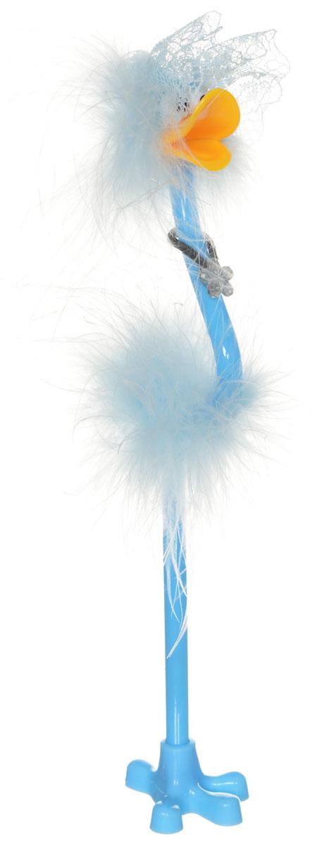 Centrum Ручка-игрушка Flamingo с подставкой цвет голубой82965_голубая шляпаЗабавная шариковая ручка-игрушка Flamingo станет отличным подарком и незаменимым аксессуаром на вашем рабочем столе. Ручка, украшенная перьями, выполнена в виде забавной птички фламинго. К ручке прилагается подставка в виде лапки. Такая ручка - это забавный и практичный подарок, она не потеряется среди бумаг и непременно вызовет улыбку окружающих.