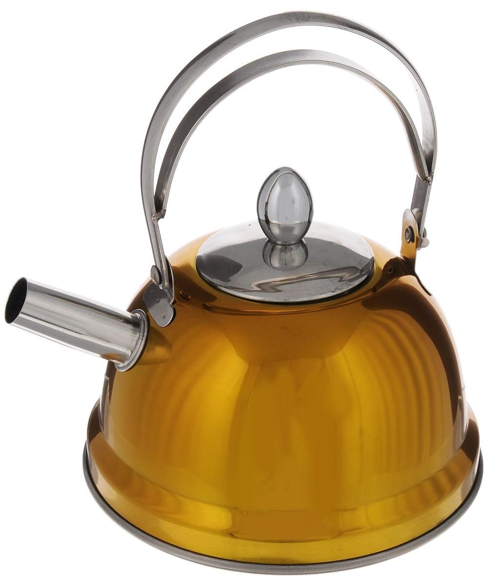 Чайник Bekker De Luxe, с ситечком, цвет: желтый, 0,8 л. BK-S430BK-S430_ желтыйЧайник Bekker De Luxe выполнен из высококачественной нержавеющей стали, что обеспечивает долговечность использования. Внешнее цветное зеркальное покрытие придает приятный внешний вид. Капсулированное дно распределяет тепло по всей поверхности, что позволяет чайнику быстро закипать. Эргономичная подвижная ручка выполнена из нержавеющей стали. Чайник снабжен ситечком для заваривания. Можно мыть в посудомоечной машине. Пригоден для всех видов плит, включая индукционные. Диаметр (по верхнему краю): 5 см. Высота чайника (без учета крышки и ручки): 8 см. Высота чайника (с учетом ручки): 17,5 см. Диаметр основания: 14 см. Толщина стенки: 0,5 мм. Высота ситечка: 5,5 см.