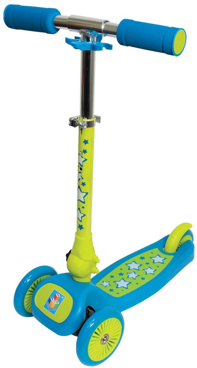1TOY Самокат детский трехколесный Бейби БайкерТ57628Самокат 1toy 3-х колесный. Управление наклоном, PVC колеса, передние 2х120мм, заднее 100мм, алюминевый реулируемый руль, нейлон/пластик рама, тормоз