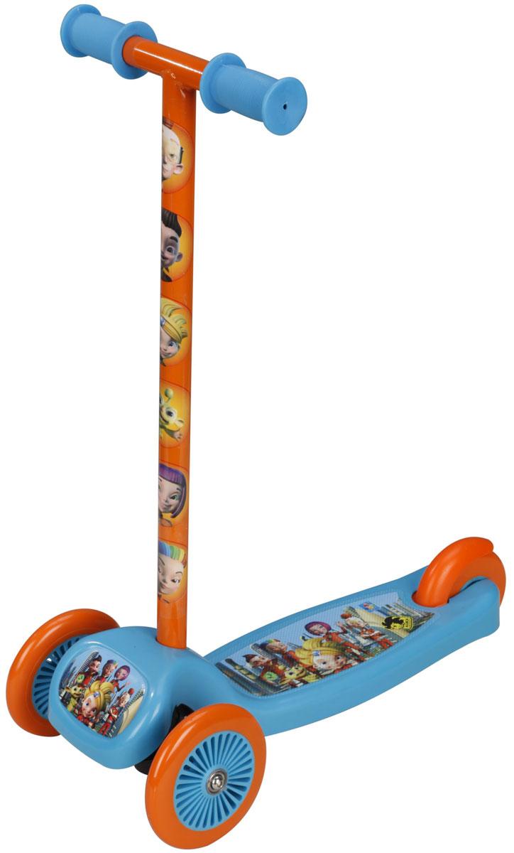 1TOY Самокат детский трехколесный Алиса знает, что делать!Т56877Самокат 3-х колесный, 1toy Алиса знает, что делать. Управление наклоном, PVC колеса, передние 2х120мм, задние 80мм, сталь, руль-нейлон, пластик рама, тормоз