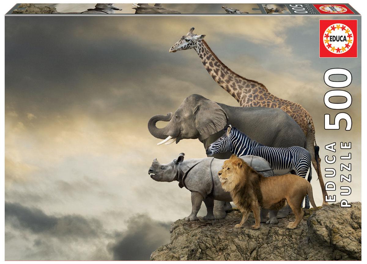 Educa Пазл Животные на краю скалы16737Пазл 500 деталей Животные на краю скалы.Размер собранного пазла 48х34