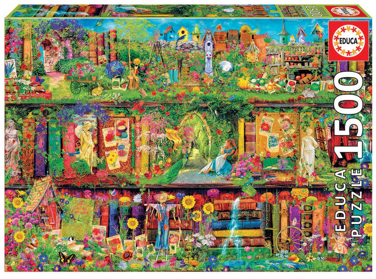 Educa Пазл Таинственный сад16766Пазл 1500 деталей Таинственный сад.Размер собранного пазла 85х60