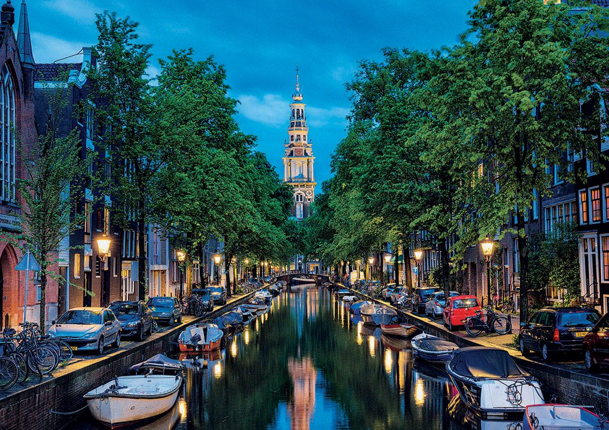 Educa Пазл Сумерки на канале в Амстердаме