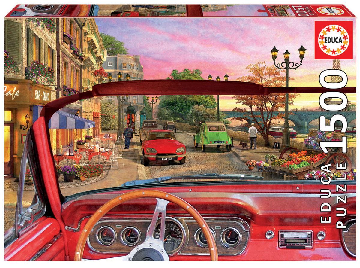 Educa Пазл Париж в автомобиле16768Пазл 1500 деталей Париж в автомобиле.Размер собранного пазла 85х60