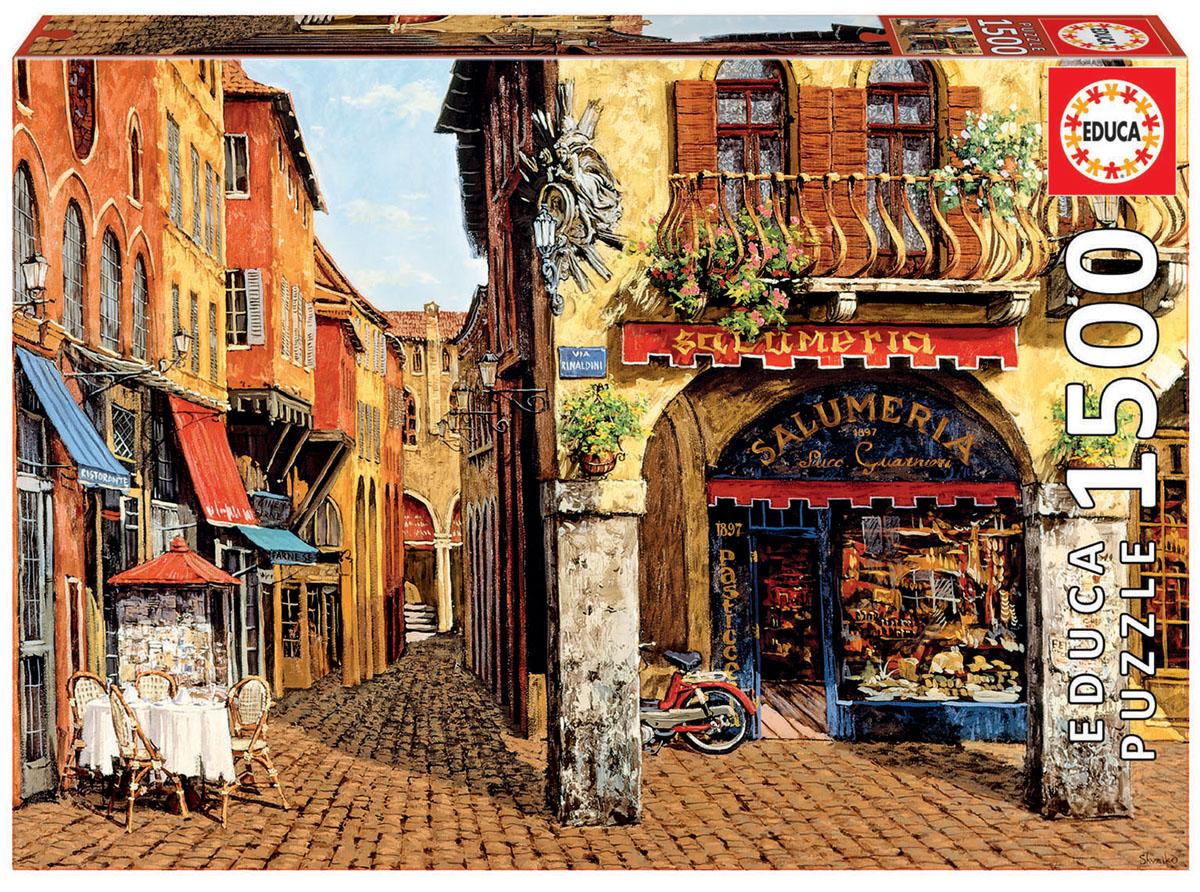 Educa Пазл Цвета Италии - салюмерия16770Пазл 1500 деталей Цвета Италии - салюмерия, Виктор Швайко.Размер собранного пазла 85х60