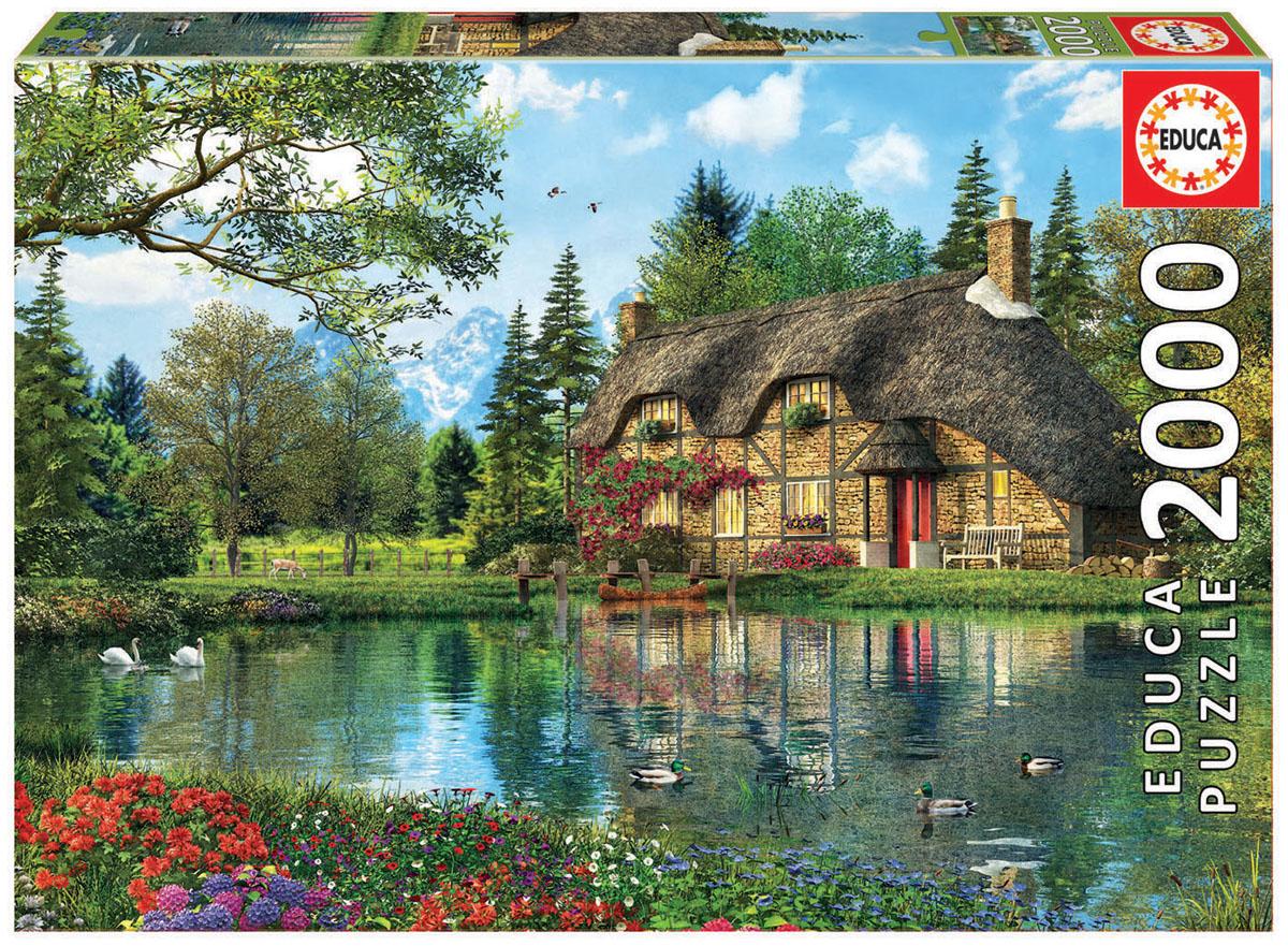 Educa Пазл Коттедж на пруду16774Пазл 2000 деталей Коттедж на пруду.Размер собранного пазла 96х68