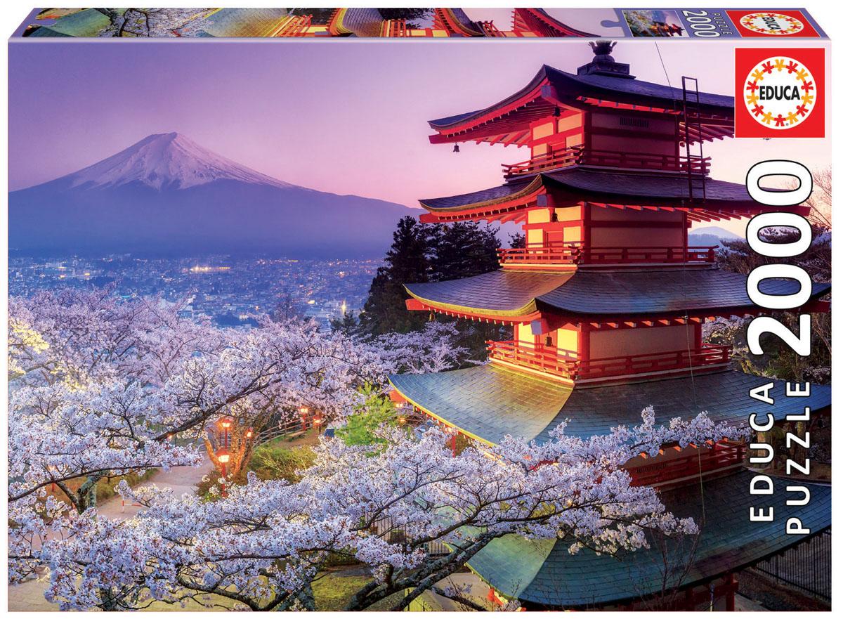 Educa Пазл Гора Фудзи Япония16775Пазл 2000 деталей Гора Фудзи, Япония.Размер собранного пазла 96х68
