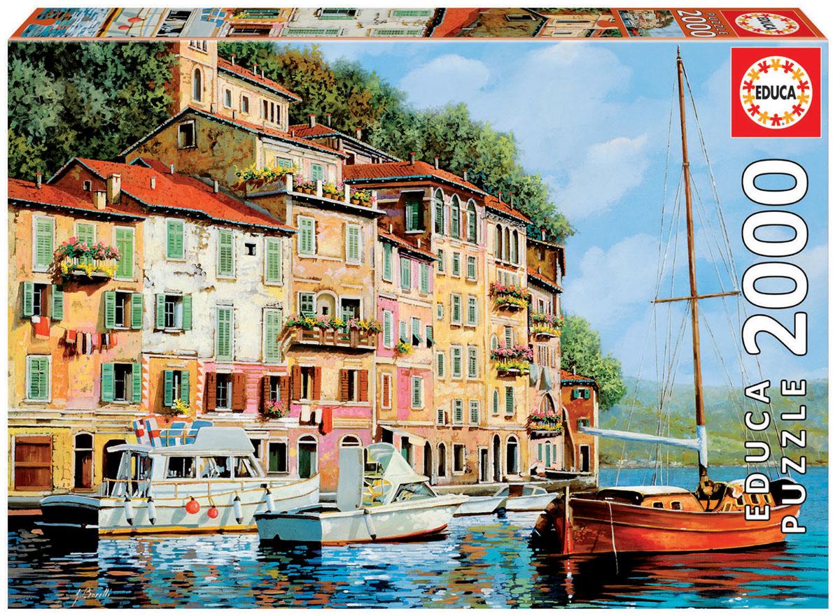Educa Пазл Красная лодка16776Пазл 2000 деталей Красная лодка, Гвидо Борелли.Размер собранного пазла 96х68