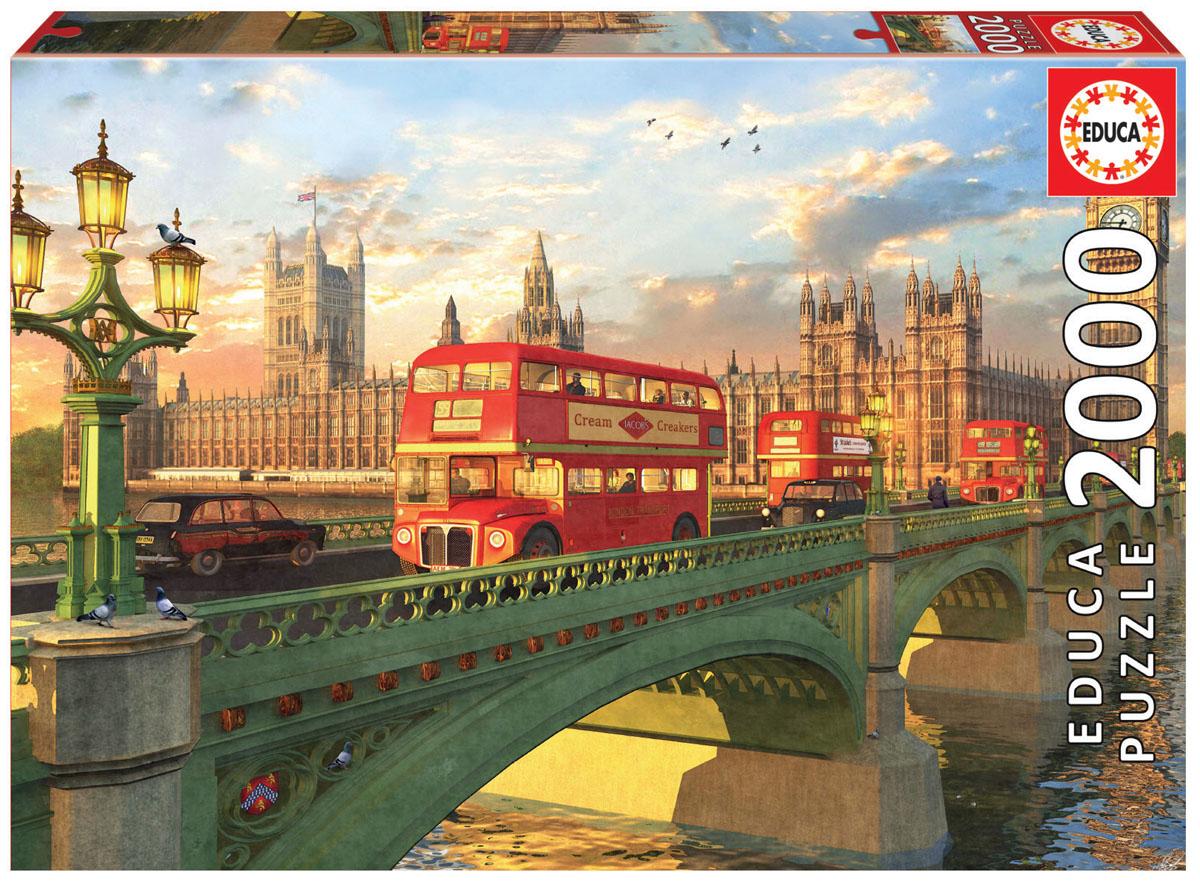 Educa Пазл Вестминстерский мост Лондон16777Пазл 2000 деталей Вестминстерский мост, Лондон.Размер собранного пазла 96х68