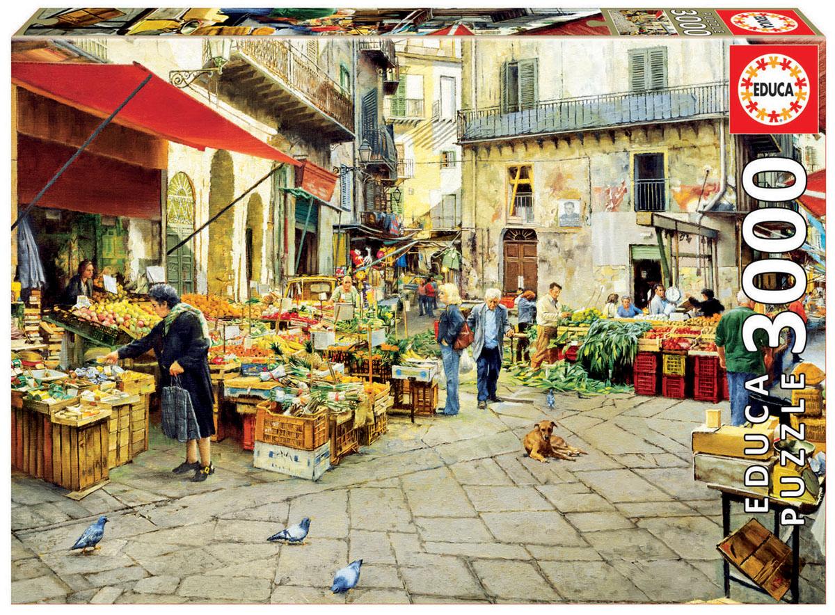 Educa Пазл Рынок Виччурия Палермо16780Пазл 3000 деталей Рынок Виччурия, Палермо.Размер собранного пазла 120х85