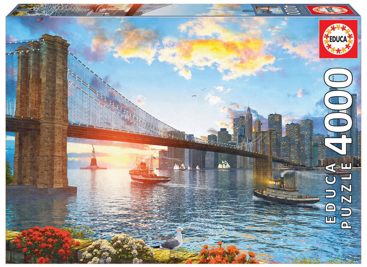 Educa Пазл Бруклинский мост16782Пазл 4000 деталей Бруклинский мост.Размер собранного пазла 136х96