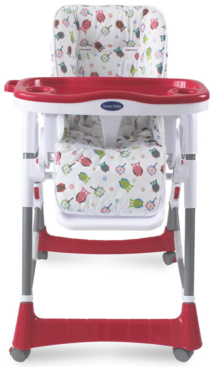 Sweet Baby Стульчик для кормления Gufo RosaGufo RosaСтульчик изготовлен из высококачественного материала - безопасного пластика Для детей с 6 месяцев до 3 лет Регулируемый 5-точечный ремень безопасности Возможность регулирования сиденья на наиболее удобную высоту. Предусмотрено 5 уровней высоты сидения В сложенном состоянии стульчик занимает минимум места 2 углубления для стаканов Кресло оснащено 4-мя колёсиками, позволяющими с лёгкостью передвигать стул. Все колесики имеют стопоры Необходимые мелочи и любимые игрушки малыша можно держать под рукой в удобной корзинке Стульчик оснащён тремя уровнями наклона спинки 3 позиции установки подноса Легко снимающийся поднос Возможность мойки подноса в посудомоечной машине Анатомическая вставка для разделения ног