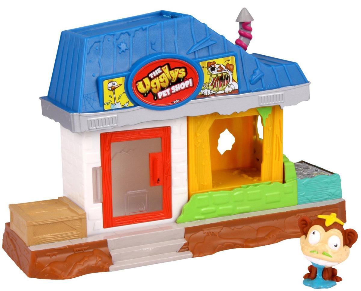 Ugglys Pet Shop Игровой набор Зоомагазин19414Игровой набор из серии Зоомагазин состоит из двух домиков со звуковыми эффектами и уникальной фигурки питомца, которую нельзя найти в других упаковках и наборах серии. Домик выполнен в ярких цветах и притягивает взгляд. Если внутри него поместить мини-фигурку животного и надавить на пол - будут раздаваться звуки. Набор включает в себя домик, части которого можно комбинировать и перестраивать в любом порядке, и уникальную фигурку обезьянки. Такая удивительная игрушка обязательно понравится вашей малышке! Порадуйте ее таким замечательным подарком! Для работы требуются 2 батарейки типа LR44 (не включены в комплект).