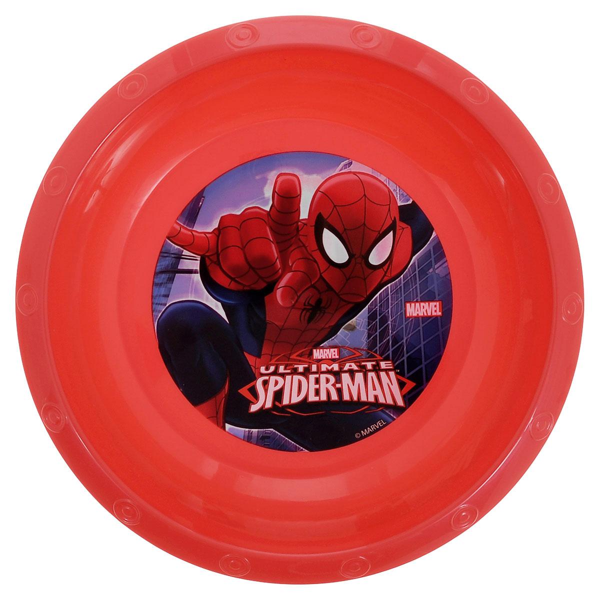 Миска Marvel Spider-Man, цвет: красный, 16 см52411_красныйЯркая миска Marvel Spider-Man, изготовленная из безопасного полипропилена красного цвета, непременно понравится юному обладателю. Дно миски оформлено изображением супергероя - человека-паука из одноименного мультсериала. Изделие очень функционально, пригодится на кухне для самых разнообразных нужд. Рекомендуется для детей от: 3 лет.