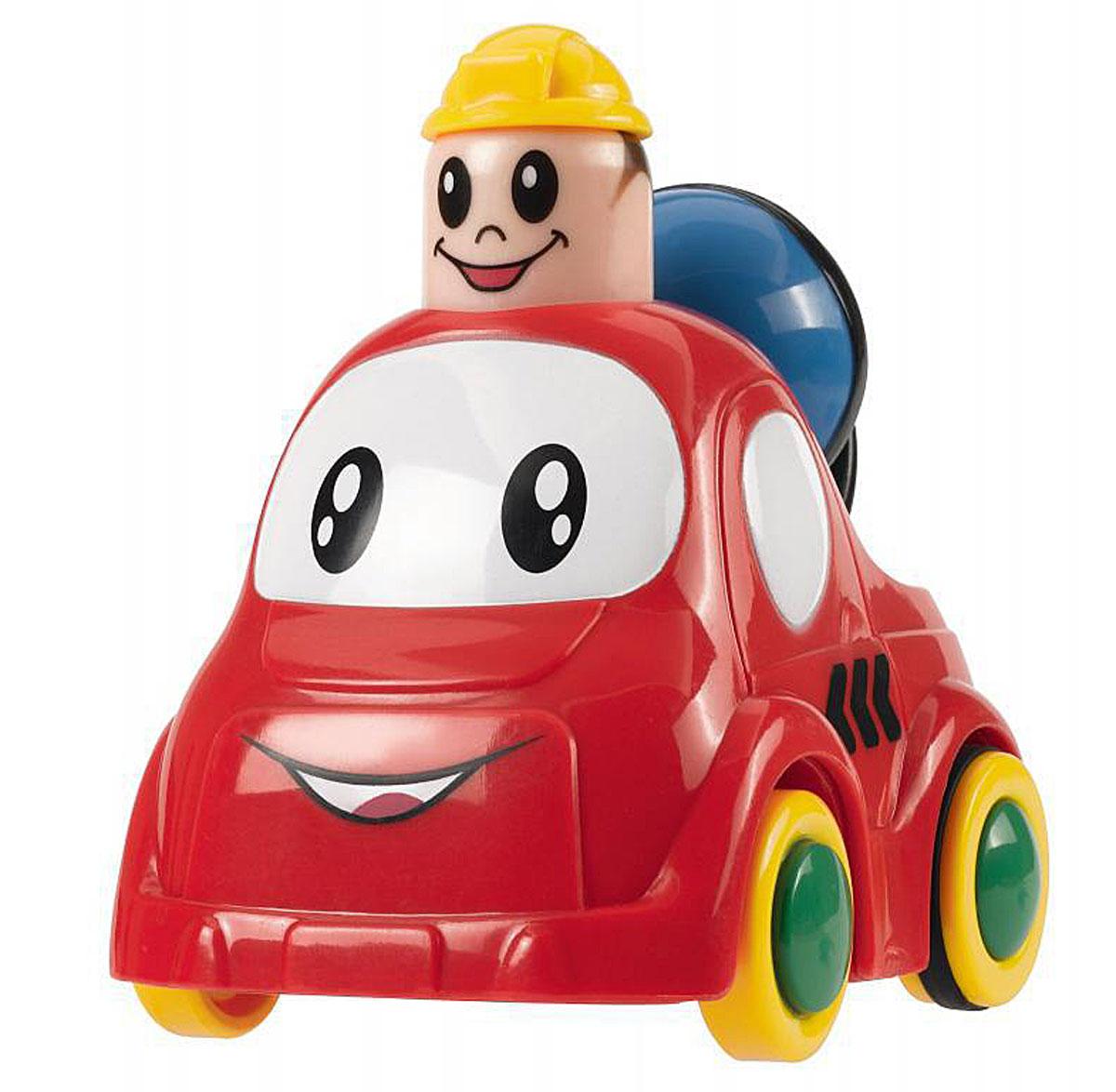 Simba Инерционная Мини-машинка цвет красный4019516_красный шарикМини-машинка Simba привлечет внимание вашего ребенка и надолго останется его любимой игрушкой. Плавные формы без острых углов, яркие цвета - все это выгодно выделяет эту игрушку из ряда подобных. Кузов дополнен крутящимся сине-зеленым шариком. Игрушка оснащена инерционным ходом. Необходимо нажать на голову водителя и отпустить - и машинка быстро поедет вперед. Машинка развивает концентрацию внимания, координацию движений, мелкую моторику рук, цветовое восприятие и воображение. Малыш будет часами играть с этой игрушкой, придумывая разные истории.