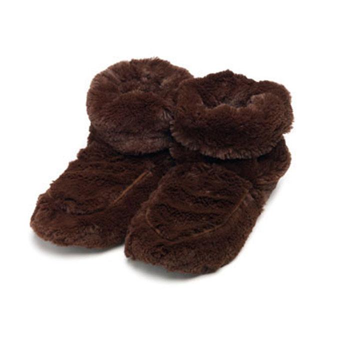 Warmies Сапожки-грелки цвет коричневый размер 35/40FW-BOO-3Сапожки-грелки Warmies, предназначенные для тепловых процедур, обязательно поднимут настроение своему обладателю. Сапожки, выполненные из хлопка и полиэстера, привлекут внимание не только ребенка, но и взрослого, и сделают процесс использования грелки приятным и комфортным. Сапожки-грелки полностью безопасны - состоят из натурального наполнителя: зерен проса и сушеной лаванды. Просо удерживает тепло долгое время, а лаванда обладает успокаивающим, расслабляющим эффектом, помогает заснуть. Лечебные свойства лаванды помогают при простудных заболеваниях. Массажный эффект при ходьбе. Положите тапки на 1-2 минуты в микроволновую печь, и они будет греть вас на протяжении 2-3 часов. Оригинальный стиль и великолепное качество исполнения делают эти тапки-грелки чудесным подарком к любому празднику. Не стирать - специальный шелковый мех легко очищается влажной тряпкой. Наполнитель: обработанные зерна проса, высушенная лаванда. Для...