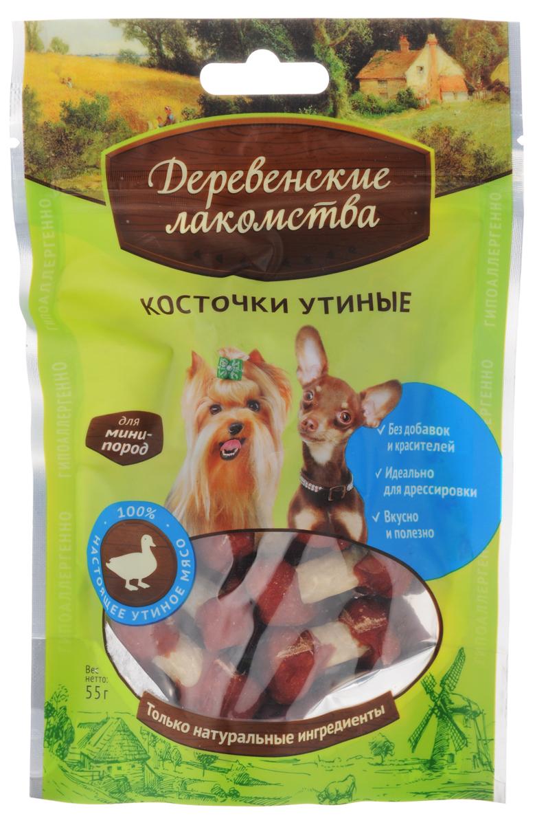 """Лакомство для собак мини-пород """"Деревенские лакомства"""", косточки утиные, 55 г 43059"""