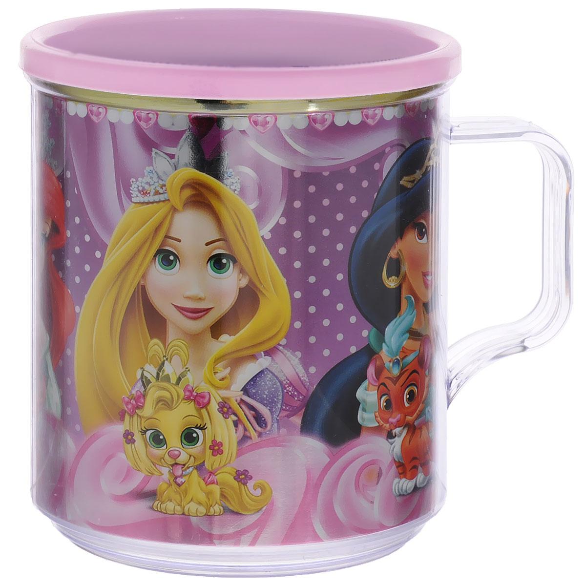 Disney Термокружка детская Принцессы Королевские питомцы цвет розовый 350 млС25-П5_розовыйДвустенная термокружка Принцессы. Королевские питомцы от Disney станет отличным подарком для малыша. Термокружка позволит длительное время сохранять напиток теплым, а яркое металлизированное изображение знаменитых диснеевских принцесс с их домашними любимцами поднимет настроение и детям, и взрослым. Объем кружки: 350 мл. Не подходит для использования в посудомоечной машине и СВЧ-печи.