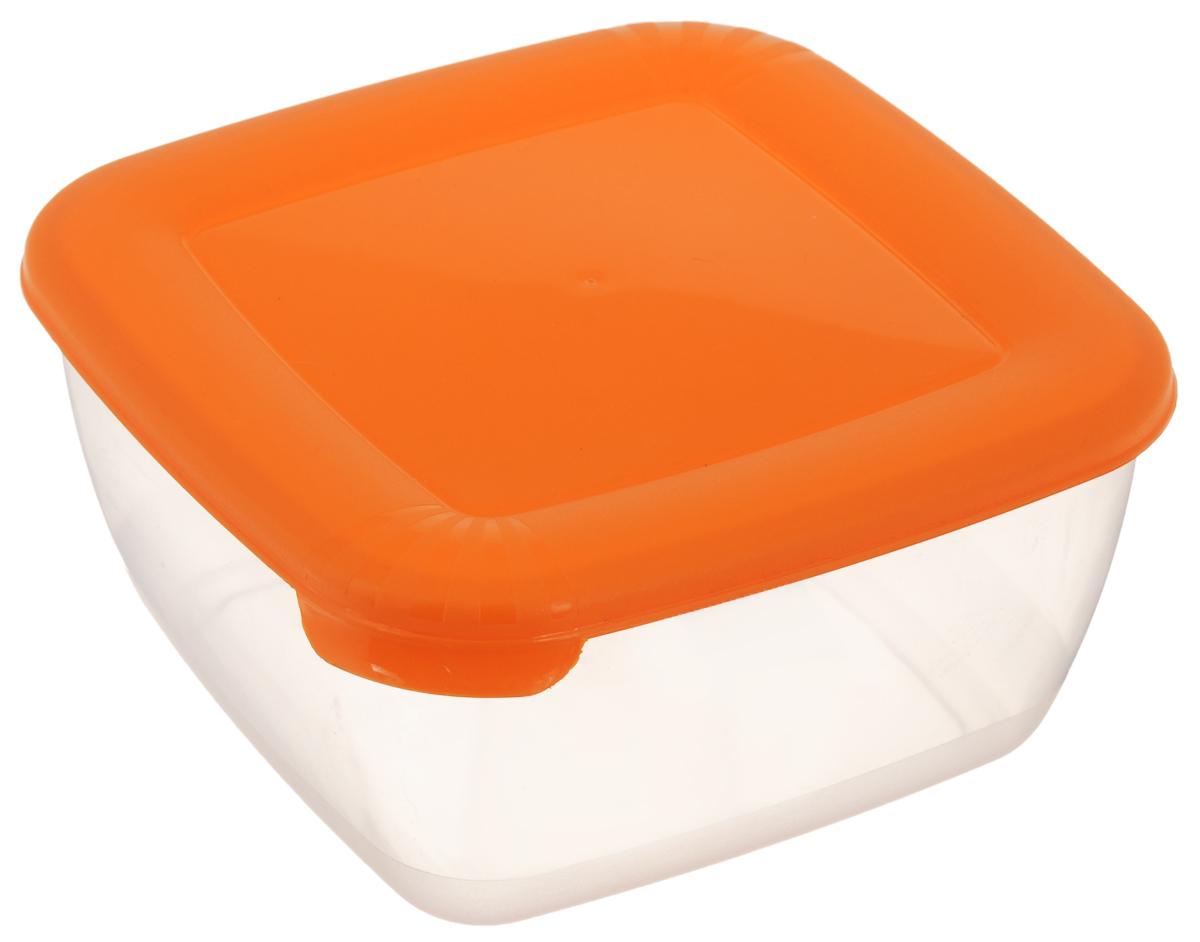 Контейнер Полимербыт Лайт, цвет: прозрачный, оранжевый, 1,5 лС543_прозрачный, оранжевыйКонтейнер Полимербыт Лайт квадратной формы, изготовленный из прочного полипропилена, предназначен специально для хранения пищевых продуктов. Крышка легко открывается и плотно закрывается. Контейнер устойчив к воздействию масел и жиров, легко моется. Прозрачные стенки позволяют видеть содержимое. Контейнер имеет возможность хранения продуктов глубокой заморозки, обладает высокой прочностью. Можно мыть в посудомоечной машине. Подходит для использования в микроволновых печах.