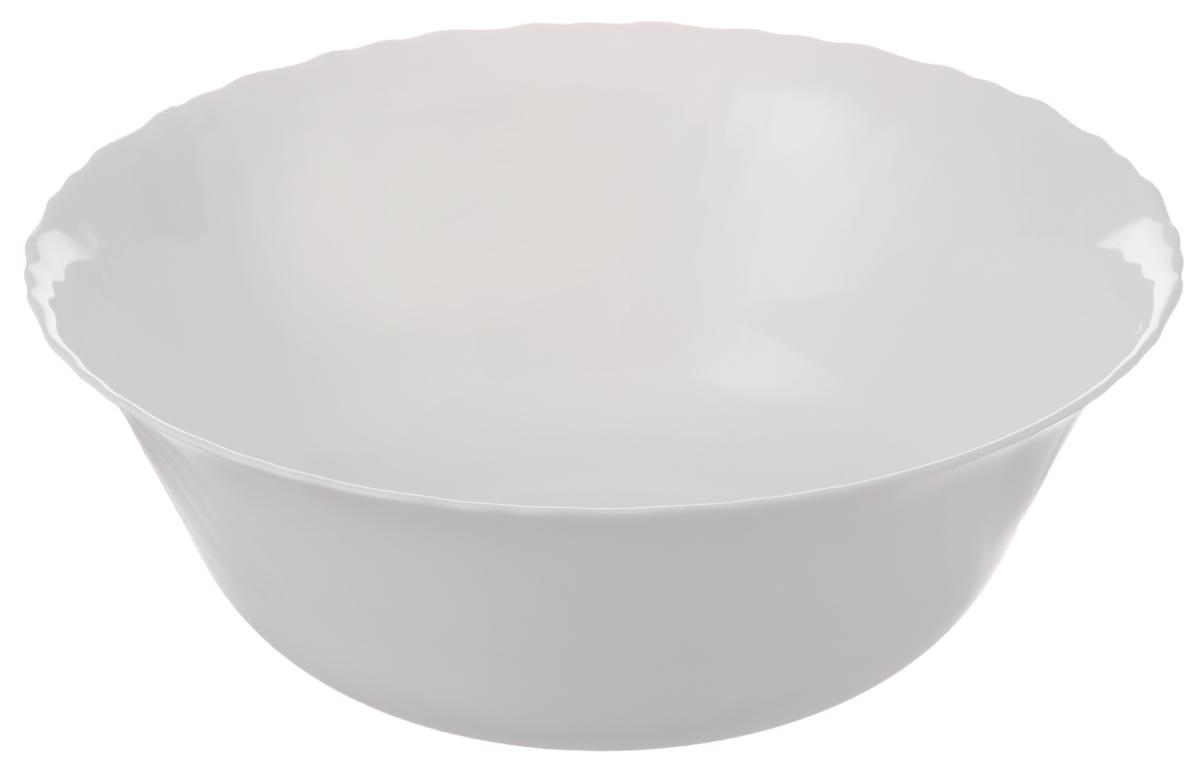 Салатник Luminarc Feston, диаметр 25 смE9657Салатник Luminarc Feston выполнен из ударопрочного стекла. Дизайн придется по вкусу и ценителям классики, и тем, кто предпочитает утонченность и изысканность. Салатник Luminarc Feston идеально подойдет для сервировки стола и станет отличным подарком к любому празднику. Можно использовать в СВЧ-печи. Диаметр (по верхнему краю): 25 см.