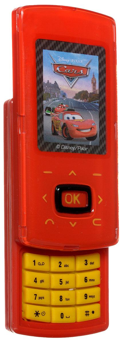 Simba Игрушечный телефон Тачки9448443_красныйИгрушечный телефон Simba Тачки станет отличным подарком для любого маленького секретного агента, ведь с его помощью можно выполнять самые опасные и сложные задания. Телефон имеет стильный дизайн, так что сразу и не догадаться, что это просто игрушка. С ним малыш будет совершать свои первые звонки. На корпусе телефона есть кнопки , при нажатии издающие звуки. Порадуйте своего ребенка таким замечательным подарком! Рекомендуется докупить 3 батарейки типа АG13 (товар комплектуется демонстрационными).