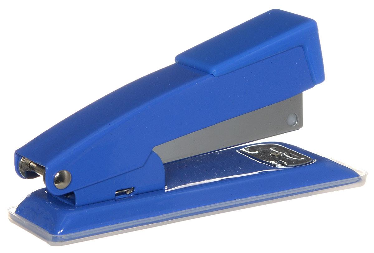 Centrum Степлер для скоб №24/6 26/6 цвет синий80061_синийСтильный, удобный и практичный степлер Centrum - незаменимый офисный инструмент. Он выполнен из пластика с металлическим механизмом. Степлер рассчитан на скрепление 10 листов скобами № 24/6, 26/6. Степлер Centrum с надежным корпусом и эргономичным дизайном гарантирует стабильную и качественную работу в течение долгого времени.