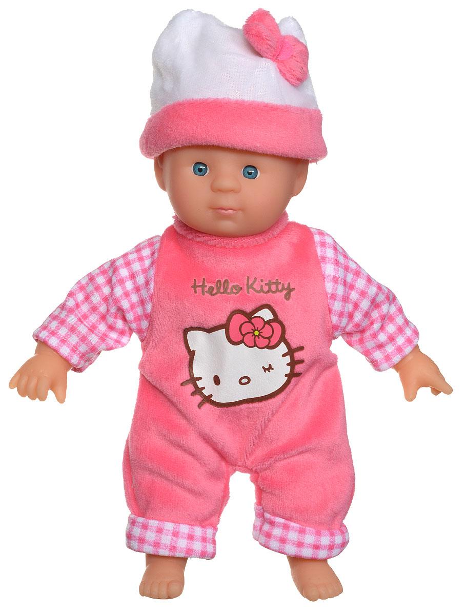 Simba Пупс Hello Kitty цвет костюма розовый в клеточку5012767_розовый в клеткуПупс Simba Hello Kitty обязательно приведет в восторг вашу дочурку. Голова, ручки и ножки пупса выполнены из прочного пластика, а тело - мягконабивное. Очаровательный малыш одет в розовый костюм в белую клеточку, а на голове у него - розовая шапочка из мягкого текстильного материала. Трогательный пупс принесет радость и подарит своей обладательнице мгновения нежных объятий. Игры с куклами способствуют эмоциональному развитию, помогают формировать воображение и художественный вкус, а также разовьют в вашей малышке чувство ответственности и заботы. Великолепное качество исполнения делают эту куколку чудесным подарком к любому празднику.