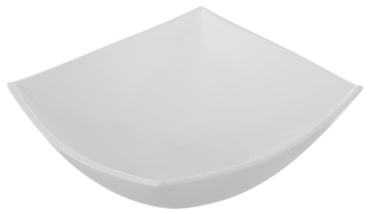 Салатник Luminarc Quadrato White, 16,5 х 16,5 смH4743Салатник Luminarc Quadrato White, выполненный из ударопрочного стекла в духе азиатских традиций, придется по вкусу и ценителям классики, и тем, кто предпочитает утонченность и изысканность. Салатник Luminarc Quadrato White идеально подойдет для сервировки стола и станет отличным подарком к любому празднику. Размер салатника (по верхнему краю): 16,5 х 16,5 см.