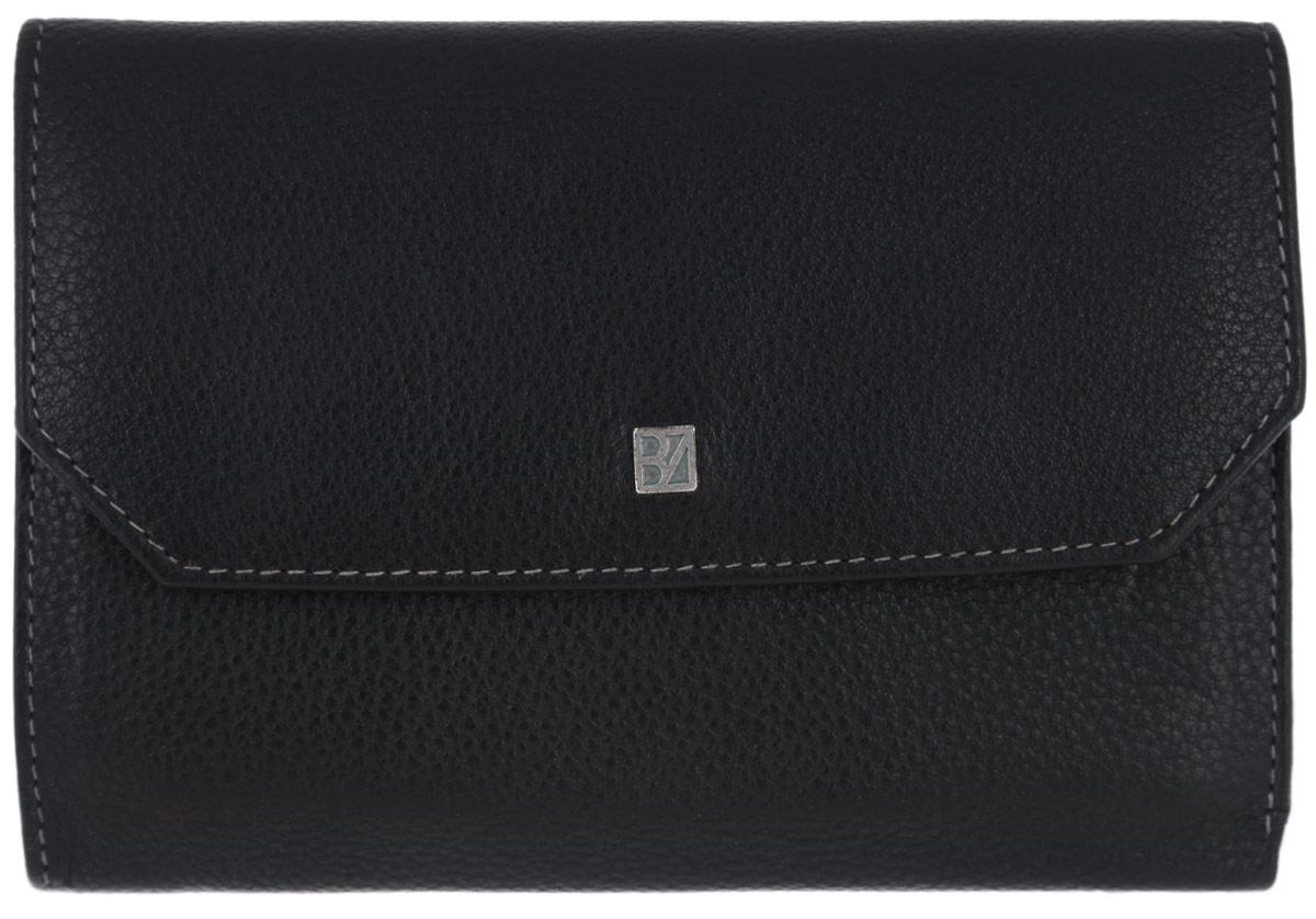 Портмоне мужское Bodenschatz, цвет: черный. 8-980/018-980/01Классическое мужское портмоне Bodenschatz выполнено из натуральной кожи с зернистой фактурой, оформлено металлической фурнитурой с символикой бренда. Портмоне закрывается клапаном на кнопку. Внутри расположены два отделения для купюр, три потайных кармашка, одиннадцать кармашков для кредитных карт, сетчатый кармашек, отделение для монет, закрывающееся клапаном на кнопку. Снаружи, на задней стороне изделия, расположен накладной карман. Изделие поставляется в фирменной упаковке. Практичное портмоне непременно подойдет к вашему образу и порадует простотой, стилем и функциональностью.