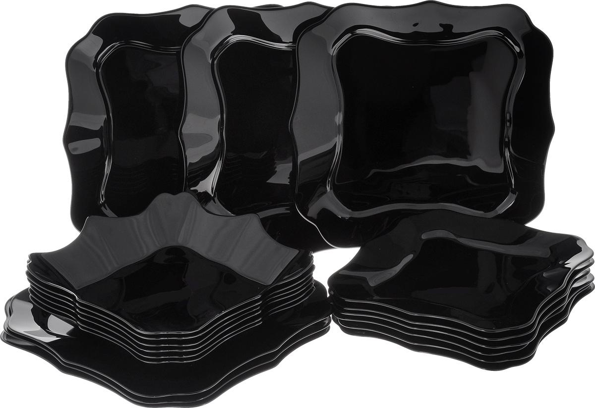 Набор столовой посуды Luminarc Authentic, 18 предметовE5251Набор Luminarc Authentic состоит из 6 суповых тарелок, 6 обеденных тарелок, 6 десертных тарелок. Изделия выполнены из ударопрочного стекла, имеют яркий дизайн и необычную форму. Посуда отличается прочностью, гигиеничностью и долгим сроком службы, она устойчива к появлению царапин и резким перепадам температур. Такой набор прекрасно подойдет как для повседневного использования, так и для праздников или особенных случаев. Набор столовой посуды Luminarc Authentic - это не только яркий и полезный подарок для родных и близких, а также великолепное дизайнерское решение для вашей кухни или столовой. Можно мыть в посудомоечной машине и использовать в микроволновой печи. Размер суповой тарелки: 22,5 х 22,5 см. Высота суповой тарелки: 4 см. Размер обеденной тарелки: 26 х 26 см. Высота обеденной тарелки: 1,7 см. Размер десертной тарелки: 21 х 21 см. Высота десертной тарелки: 1,5 см.