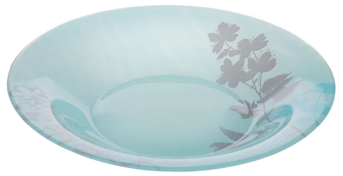 Тарелка глубокая Luminarc Cayla Blue, диаметр 22 смJ8832Глубокая тарелка Luminarc Cayla Blue выполнена из ударопрочного стекла и имеет классическую круглую форму. Она прекрасно впишется в интерьер вашей кухни и станет достойным дополнением к кухонному инвентарю. Тарелка Luminarc Cayla Blue подчеркнет прекрасный вкус хозяйки и станет отличным подарком. Диаметр тарелки (по верхнему краю): 22 см.