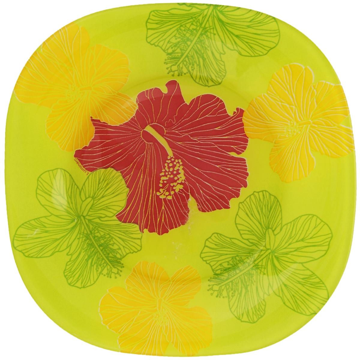 Тарелка десертная Luminarc Hibiscus Green, 18 х 18 смG0076Десертная тарелка Luminarc Hibiscus Green, изготовленная из ударопрочного стекла, имеет изысканный внешний вид. Такая тарелка прекрасно подходит как для торжественных случаев, так и для повседневного использования. Идеальна для подачи десертов, пирожных, тортов и многого другого. Она прекрасно оформит стол и станет отличным дополнением к вашей коллекции кухонной посуды. Размер тарелки (по верхнему краю): 18 х 18 см.
