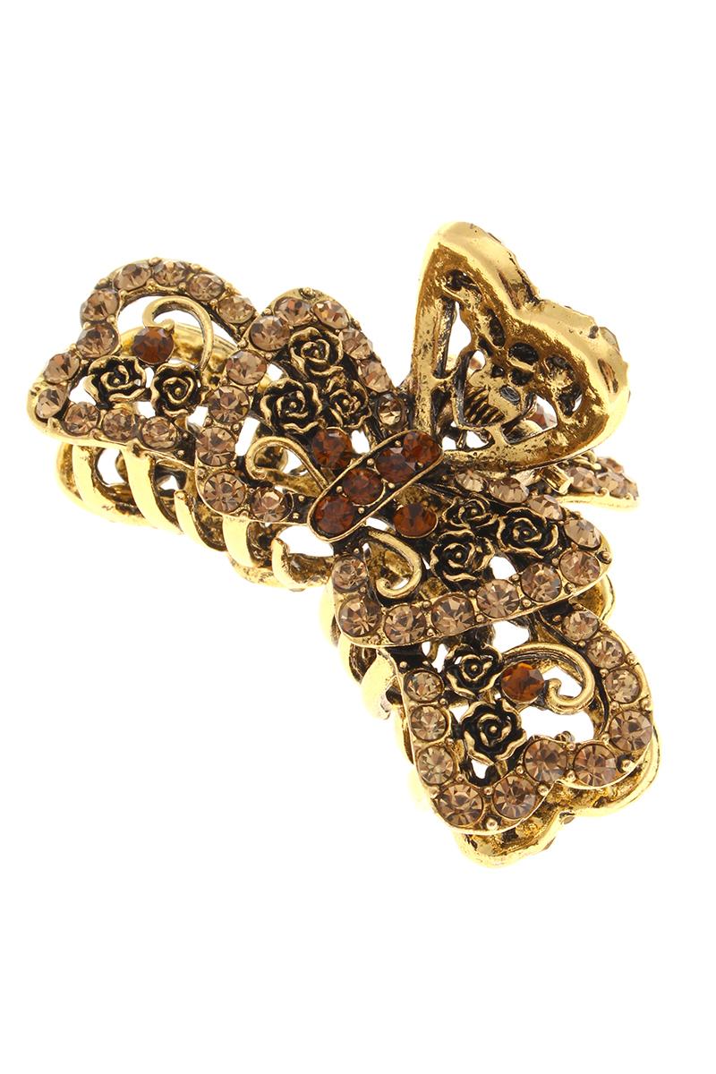 Заколка-краб Migura, цвет: золотой. NOBZ1036