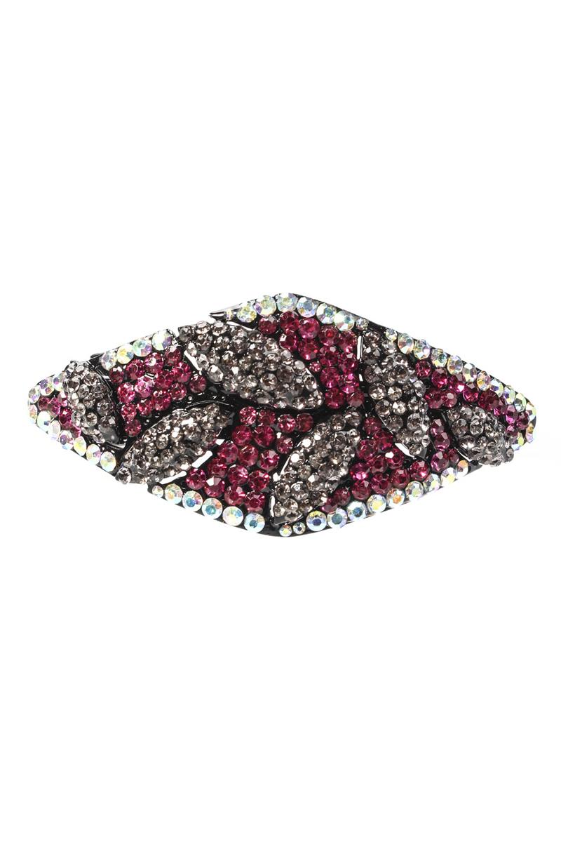 Заколка для волос Migura, цвет: черный, розовый, белый, серый. NODI0043
