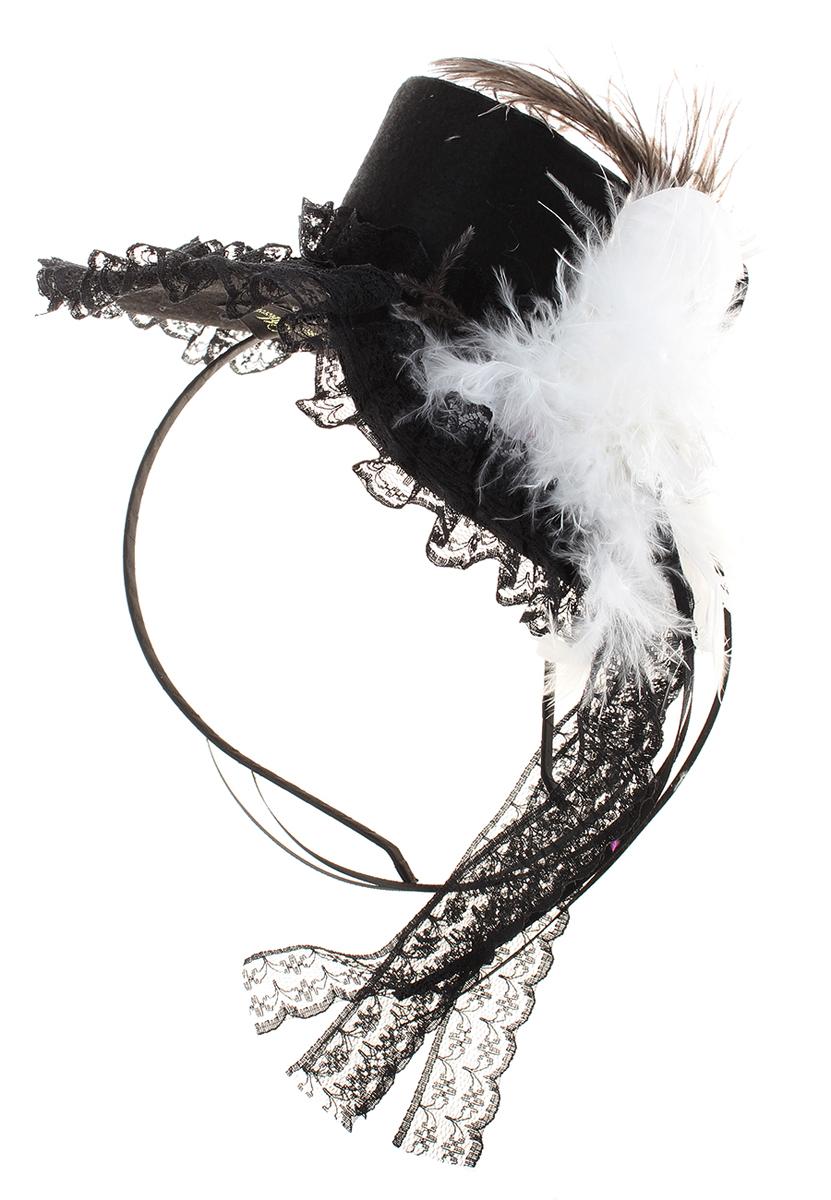 Ободок Migura, цвет: черный, белый. NOL0003