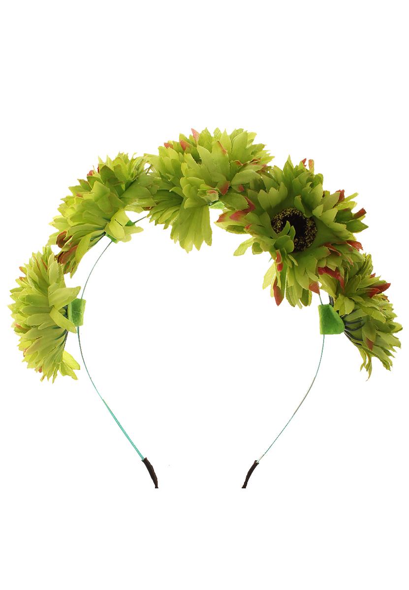 Ободок Migura, цвет: зеленый. NOL0007