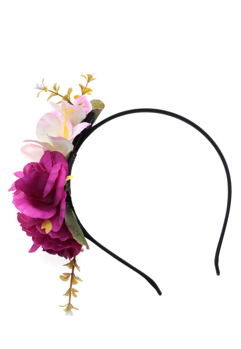 Ободок Migura, цвет: фиолетовый, зеленый, черный. NOY0017