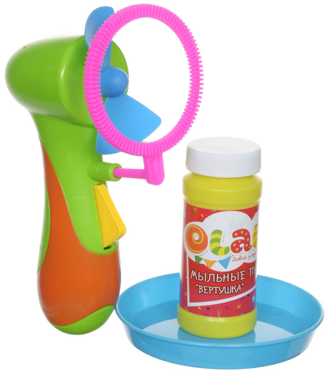 Olala Набор для пускания мыльных пузырей Вертушка цвет салатовый