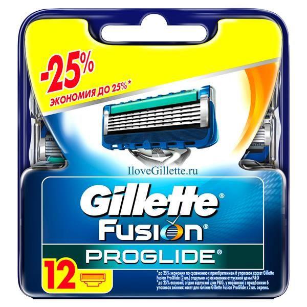 Сменные кассеты для бритья Gillette Fusion ProGlide, 12 штGIL-81424007Gillette - лучше для мужчины нет! Gillette Fusion ProGlide – это самая инновационная бритва от Gillette, которая обеспечивает действительно революционное скольжение и гладкость бритья. Новая бритва оснащена самыми тонкими лезвиями от Gillette со специальным покрытием, снижающим сопротивление. Для революционного скольжения и невероятной гладкости бритья, даже по сравнению с Fusion. Невооруженным глазом вы можете не заметить все последние инновации в НОВЫХ бритвах Gillette Fusion ProGlide и Gillette Fusion ProGlide Power, но после первого раза вы почувствуете, что бритье превратилось в скольжение. - При покупке упаковки сменных кассет ProGlide или ProGlide Power из 12 шт. вы экономите до 25% по сравнению с покупкой шести упаковок из 2 шт. (на основании отпускной цены Procter&Gamble). - Самые тонкие лезвия от Gillette для революционного скольжения и гладкости бритья (первые лезвия в кассетах Fusion ProGlide тоньше, чем лезвия Fusion). -...